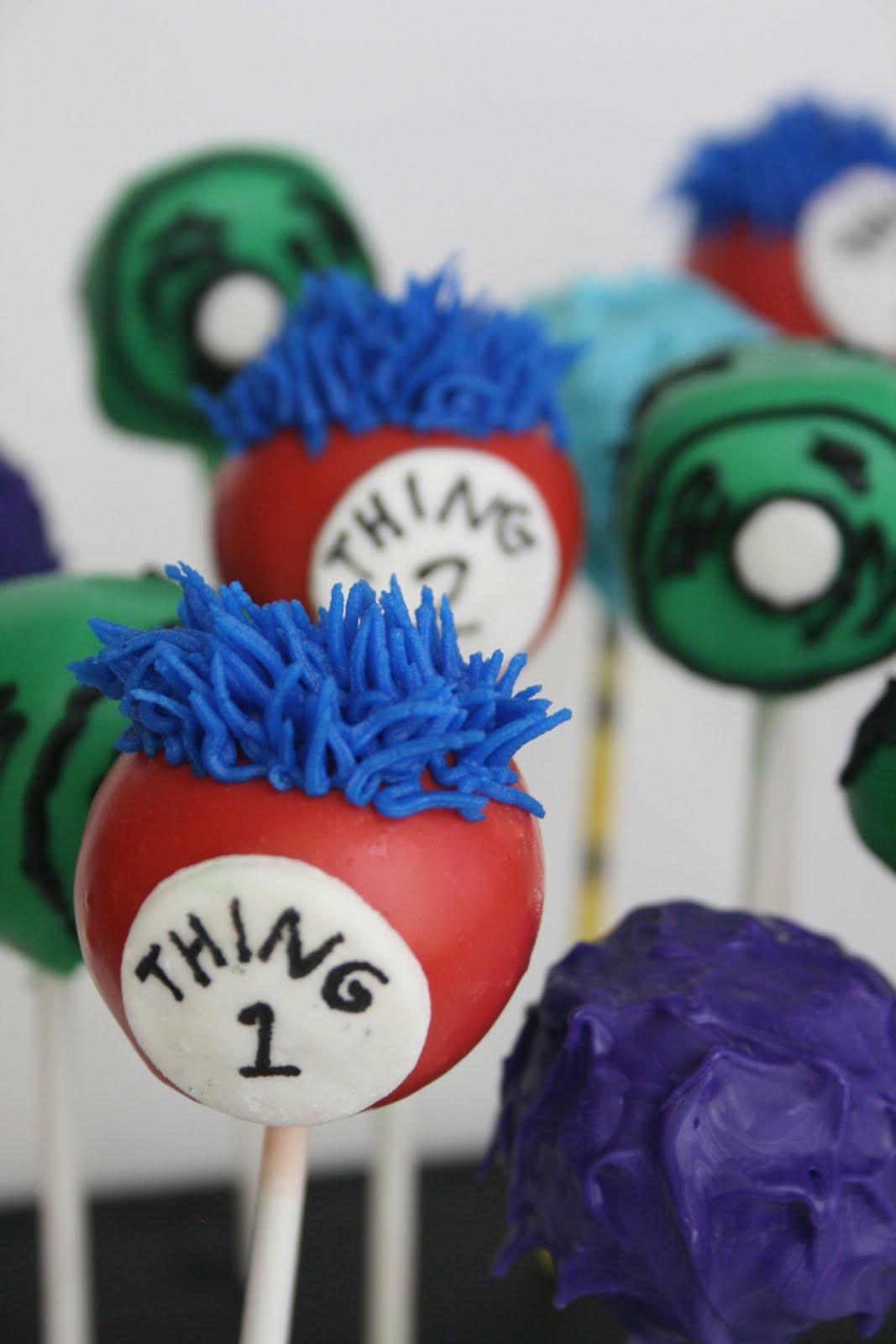 dr. seuss cake pops | Dr. Seuss-themed birthday cake pops | Theme ...