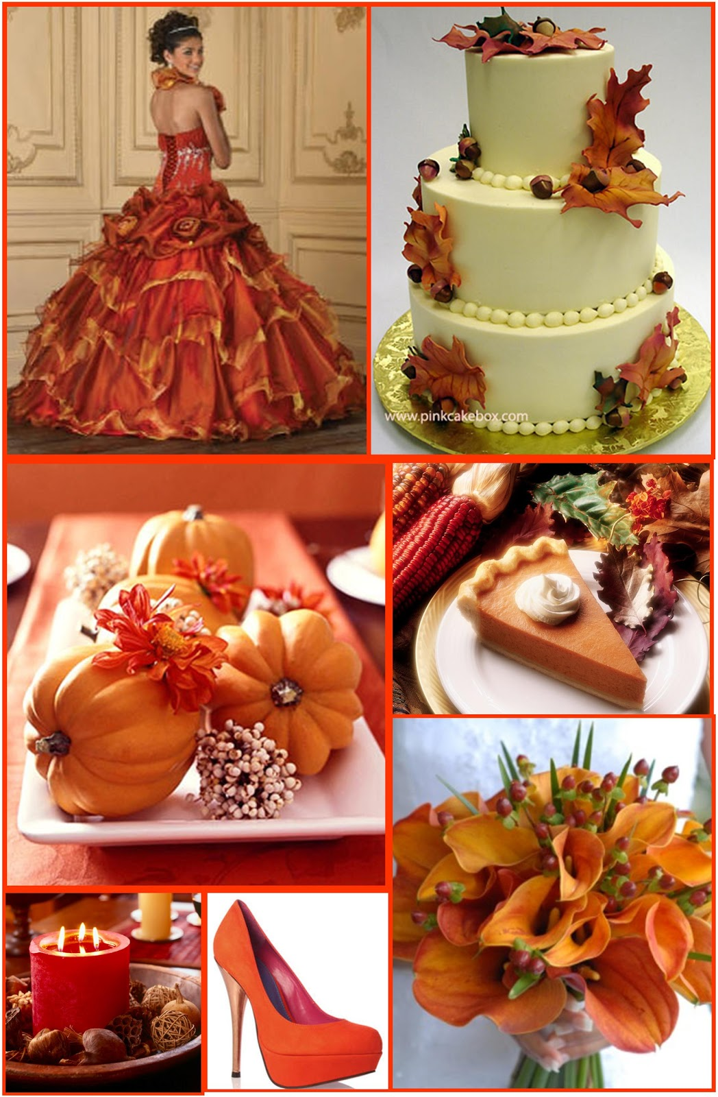 Diy wedding crafts diy wedding autumn wedding theme board for Autumn wedding decoration