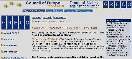 Grupului de State Împotriva Corupţiei (GRECO)