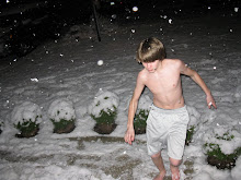 Christian in the snow!