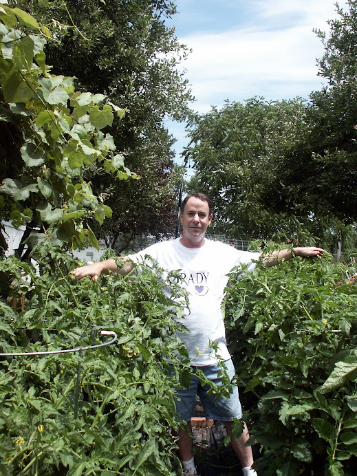 Marty In The Garden, July 2007
