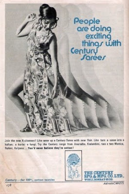 Sari ad from the 70s