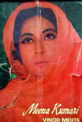 cover of biography of Meena kumari by Vinod Mehta