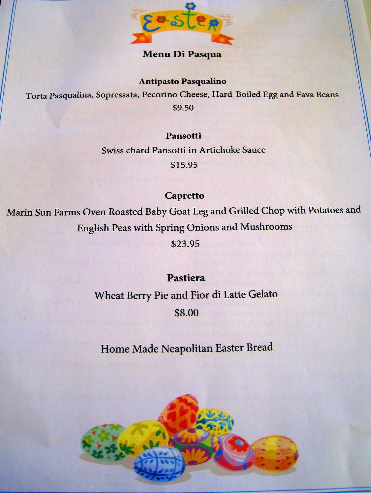 Gastronomichael la pasqua con chi vuoi easter lunch at for Easy easter lunch menu