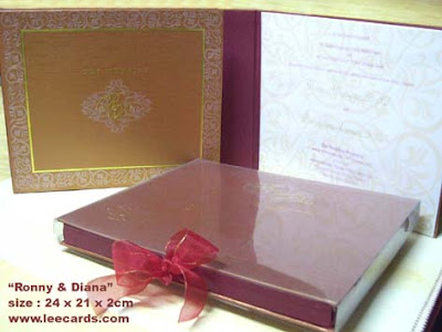Boxed envelope plastic PVC outside and hard covered invitation card