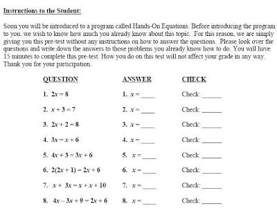 Hands On Equations, Lesson 3 ANSWER KEY - QR Code Hosting Blog