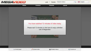 how to bypass 72 minutes megavideo limit