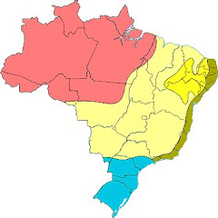 Mapa do clima no Brasil