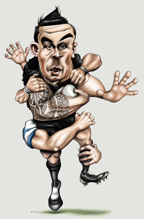 Sonny Bill Williams colour caricature complete!
