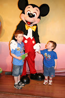 """Alex meeting his favorite """"person"""" in the  world. . . MICKEY!!!"""