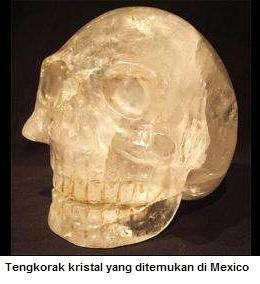 Tengkorak kristal ditemukan di mexiko