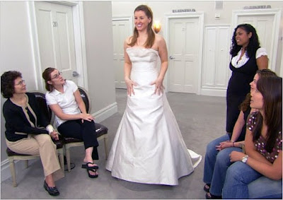 Leslie Saunders Ramona Keveza dress bridal gown Say Yes to the Dress screencaps images pictures photos
