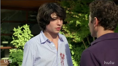 Mark Feuerstein Dr. Hank Lawson Ezra Miller Tucker Royal Pains screencaps images photos pictures screengrabs caps