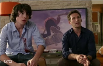 Dr. Hank Mark Feuerstein Ezra Miller Tucker Royal Pains screencap images photos pictures screengrabs captures