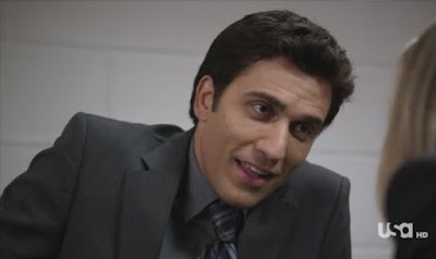Covert Affairs Pilot episode screencaps Vincent Rossabi Noam Jenkins FBI agent police interrogation images photos pictures screengrabs captures