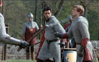 Merlin The Tears of Uther Pendragon screencaps images photos pictures screengrabs Arthur Bradley James falling sword fight magic
