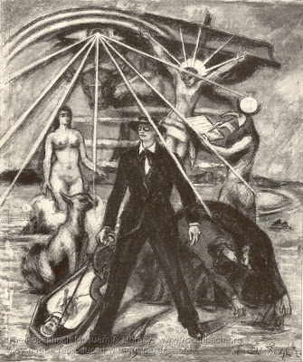 Frank Budgen, illustration for 'Proteus' chapter of James Joyce's 'Ulysses'