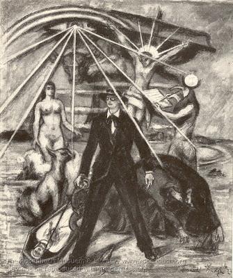 Frank Budgen, illustration for 'Proteus' chapter of James Joyce's 'Ulysses'