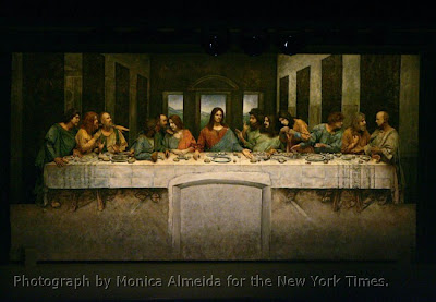 Leonardo Vinci's 'The Last Supper' recreated tableau-vivant stylee at the Pageant of the Masters, Laguna Beach, Ca. Photograph: Monica Almeida for the New York Times, 2006