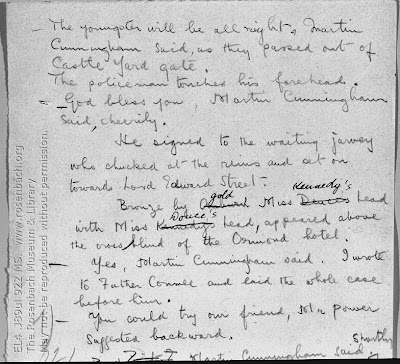 James Joyce. MS: Ulysses, Wandering Rocks episode, p. 32.  Paris [January-February 1919.]  EL4 .J89 922 MS