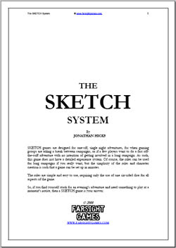 GM gone down with the plague? Fill your evening with Sketch by Farsight Games