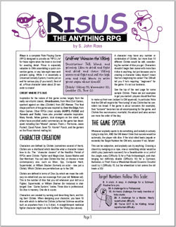 Brain off? Risus on. The Anything RPG by S. John Ross
