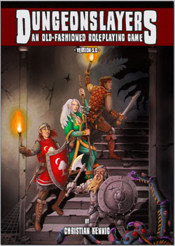 Pick up axe, put on Chainmail and kick the door of the dungeon in with Dungeonslayers by Christian Kennig
