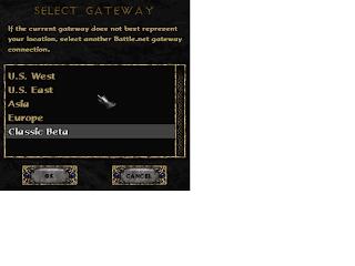 Diablo 2 patch 1.13 PTR Classic Beta screen shot