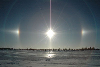 a sun dog or sundog