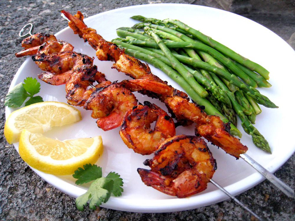 Moroccan Spicy Grilled Shrimp