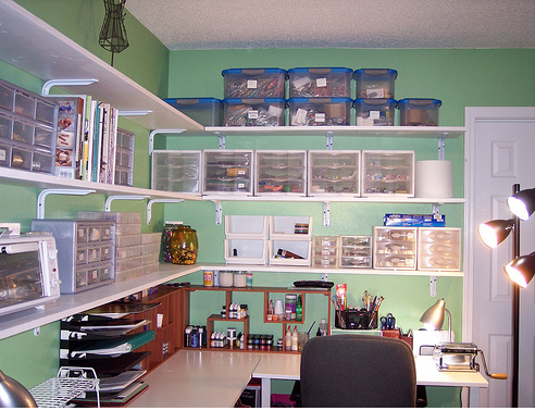 Sewing Room Storage Ideas On A Budget Repurpose What You Have