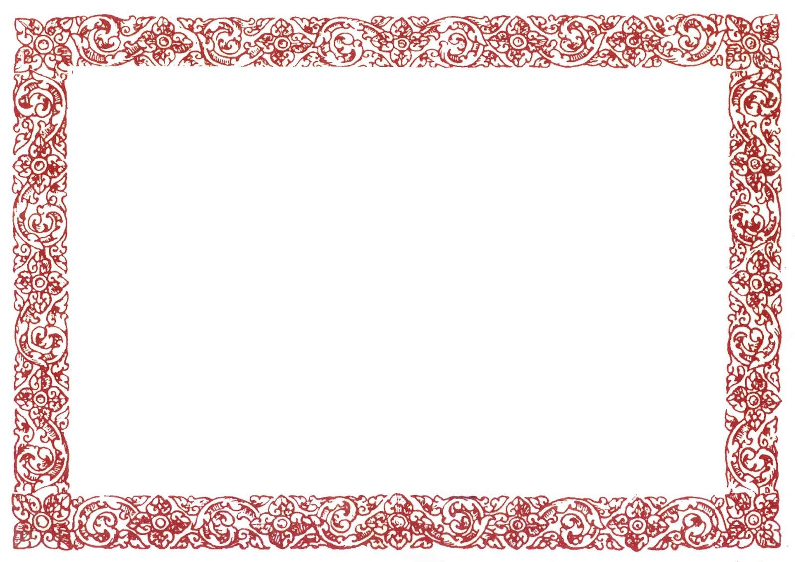 Fancy Certificate Border Templates
