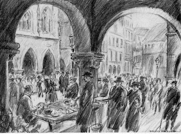 Münster Bogenlauben am Prinzipalmarkt