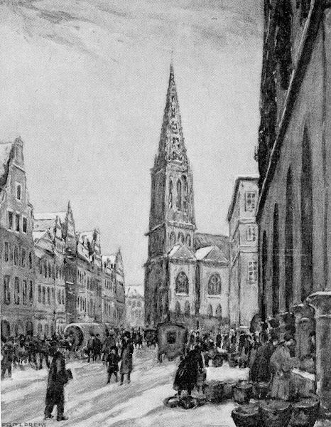 Münster Prinzipalmarkt mit Lambertikirche
