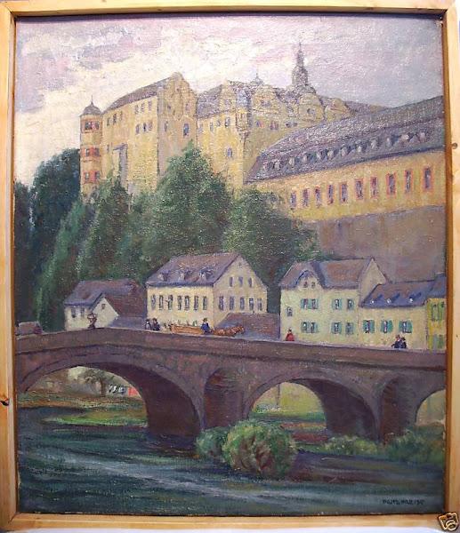 Fritz Preiss und der Maler Alfred Fenske