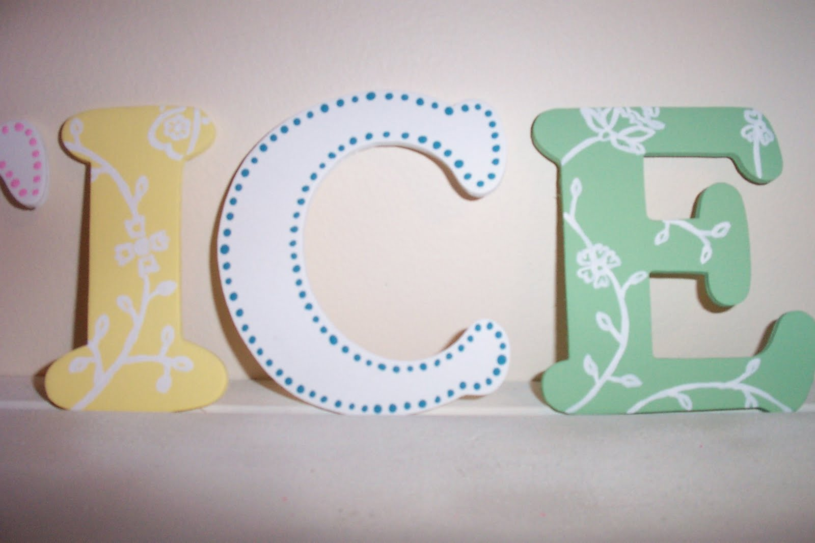 Deliliah Designs Painted Wooden Letters