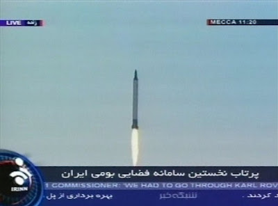 Iranian satellite launch - click for larger image