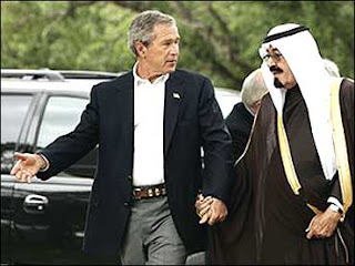 Bush with Saudi king