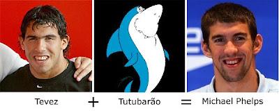 Matemática dos Famosos - Tevez + Tutubarão = Michael Phelps