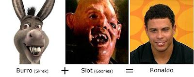 Matemática dos Famosos - Burro (Shrek) + Slot (Goonies) = Ronaldo  Fenômeno