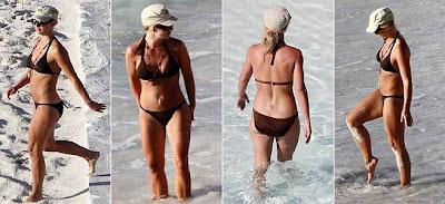 Britney Spears de biquini na praia do Caribe
