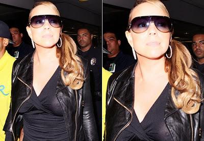 Mariah Carey com roupa transparente