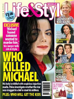 Michael Jackson assassinado, é o que diz a revista Life & Style