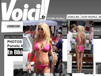 Tara Reid de biquini em Saint-Tropez