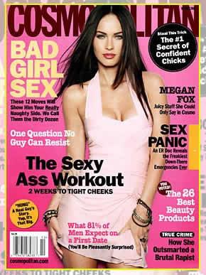 Decote de Megan Fox na Cosmopolitan