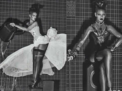 Rihanna: Topless e biquini na Vogue