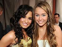 Miley Cyrus e Demi Lovato: Melhores amigas