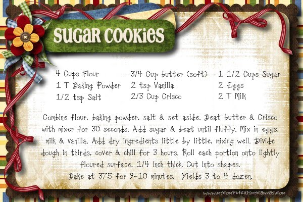 Frosted sugar cookie recipes
