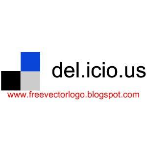 Del.icio.us logo vector