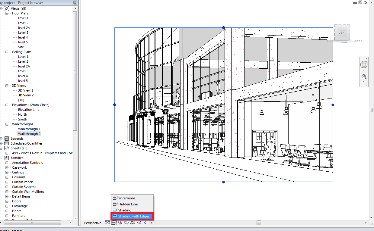 cad and drafting  revit  save perspective view